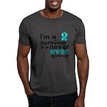 Never Give Up Ovarian Cancer Dark T-Shirt
