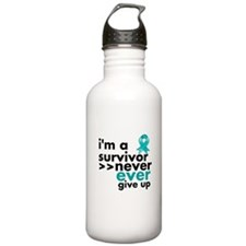Never Give Up Ovarian Cancer Sports Water Bottle