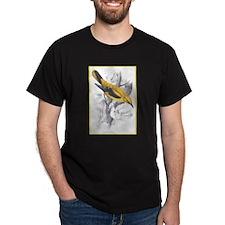 Golden Oriole Bird (Front) Black T-Shirt