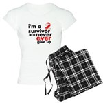 Never Give Up Oral Cancer Women's Light Pajamas