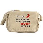 Never Give Up Oral Cancer Messenger Bag