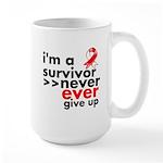 Never Give Up Oral Cancer Large Mug