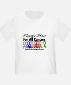 I Support A Cure For All Cancers T
