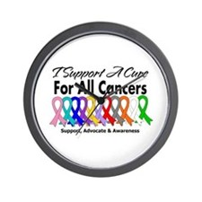 I Support A Cure For All Cancers Wall Clock
