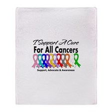 I Support A Cure For All Cancers Throw Blanket