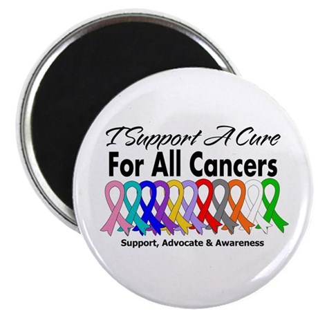 I Support A Cure For All Cancers Magnet