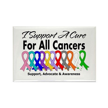 I Support A Cure For All Cancers Rectangle Magnet