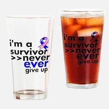 Survivor Male Breast Cancer Drinking Glass