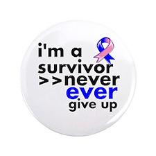 "Survivor Male Breast Cancer 3.5"" Button (100 pack)"