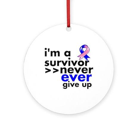 Survivor Male Breast Cancer Ornament (Round)