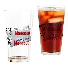 18 vs. 18 Noooo Drinking Glass