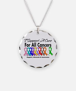 I Support A Cure For All Cancers Necklace