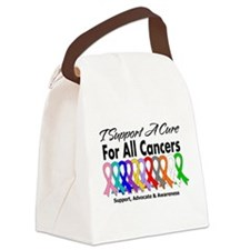 I Support A Cure For All Cancers Canvas Lunch Bag