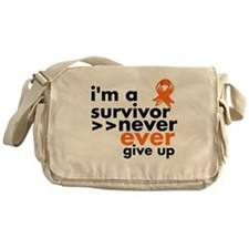 Never Give Up Kidney Cancer Messenger Bag