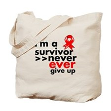 Never Give Up Blood Cancer Tote Bag