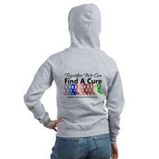 Together We Can Find A Cure Zipped Hoody