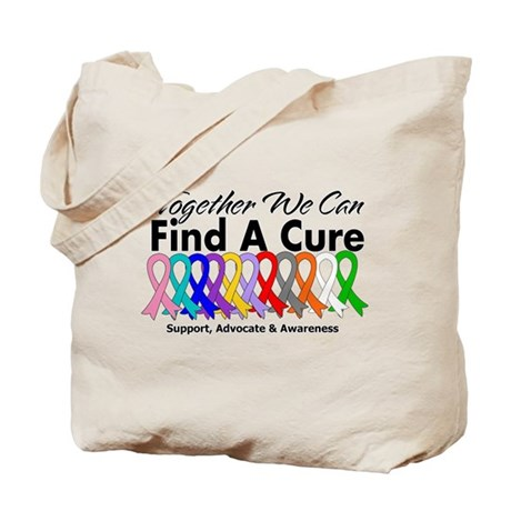 Together We Can Find A Cure Tote Bag