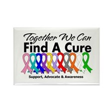Together We Can Find A Cure Rectangle Magnet