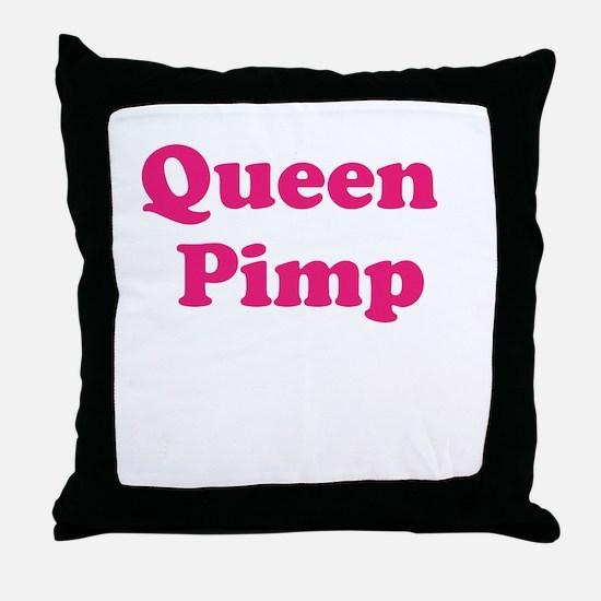Queen Pimp Throw Pillow