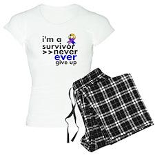 Never Give Up Bladder Cancer Pajamas