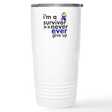 Never Give Up Bladder Cancer Travel Mug