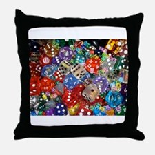 Lets Roll - Multicoloured Dice Throw Pillow