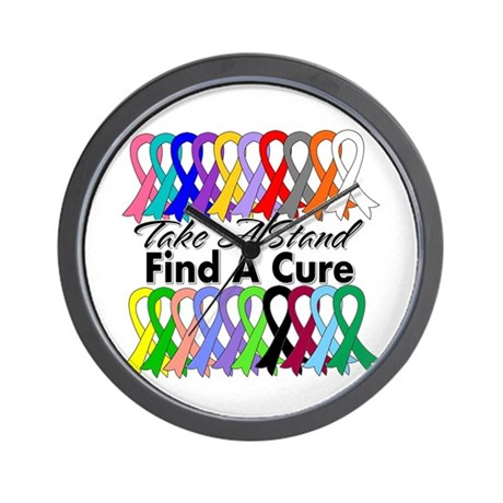 Take A Stand Find A Cure Wall Clock
