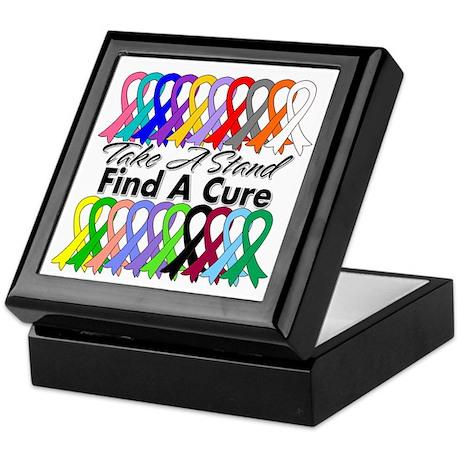 Take A Stand Find A Cure Keepsake Box