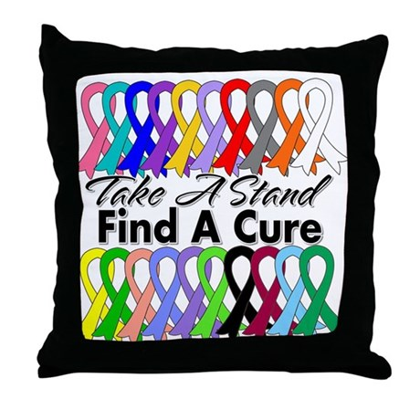 Take A Stand Find A Cure Throw Pillow