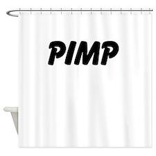 PIMP (black font) Shower Curtain