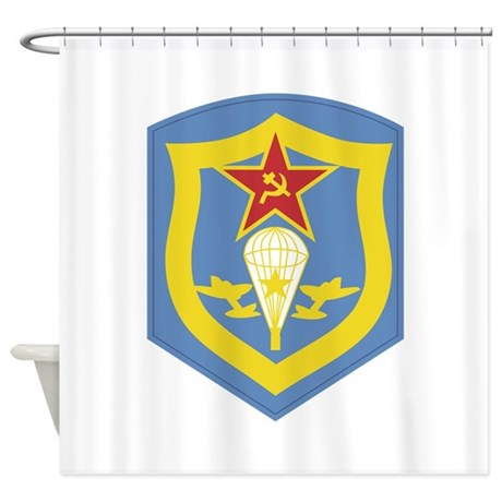 The Soviet Airborne Regiment Shower Curtain