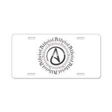 Atheist Circle Logo Aluminum License Plate
