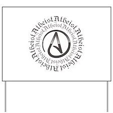 Atheist Circle Logo Yard Sign