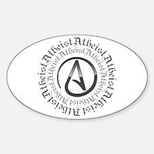 Atheist Circle Logo Sticker (Oval)