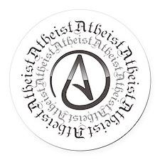 Atheist Circle Logo Round Car Magnet