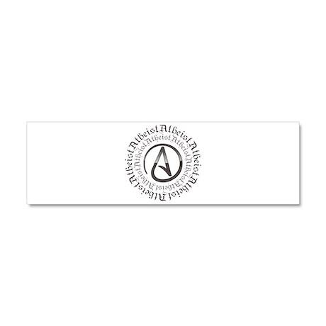 Atheist Circle Logo Car Magnet 10 x 3