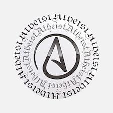 "Atheist Circle Logo 3.5"" Button (100 pack)"