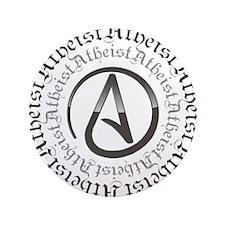 """Atheist Circle Logo 3.5"""" Button"""
