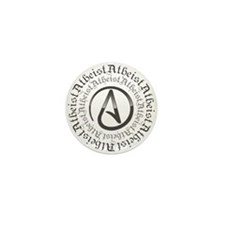 Atheist Circle Logo Mini Button