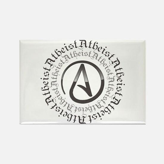Atheist Circle Logo Rectangle Magnet