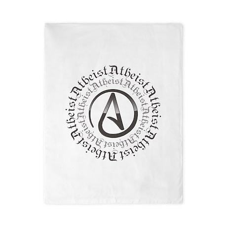 Atheist Circle Logo Twin Duvet