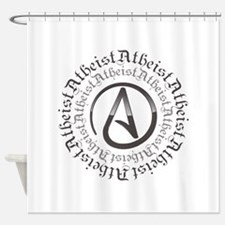 Atheist Circle Logo Shower Curtain
