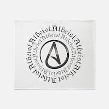 Atheist Circle Logo Throw Blanket