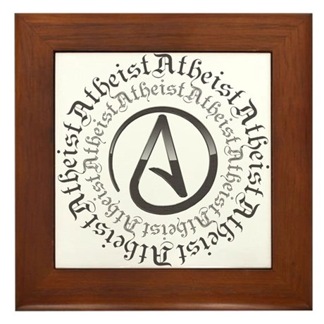 Atheist Circle Logo Framed Tile