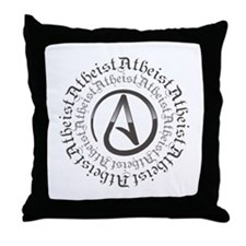 Atheist Circle Logo Throw Pillow