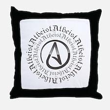 Atheist Circle Logo Throw Pillow