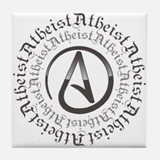 Atheist Circle Logo Tile Coaster