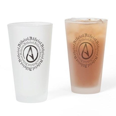 Atheist Circle Logo Drinking Glass