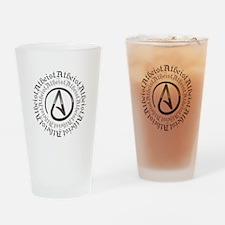 Atheist Circle Logo Drinking Glass