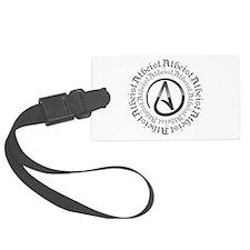 Atheist Circle Logo Luggage Tag